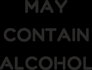 Print Etui na Xiaomi Mi6 Napis: May contain alcohol - PrintSalon