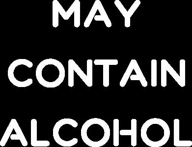 Print Plecak z przednią kieszenią Napis: May contain alcohol - PrintSalon