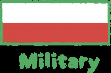 Print Women's hoodies Military and the flag of Poland - PrintSalon