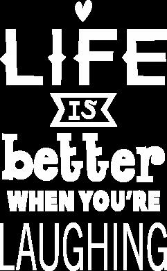 Print Plecak z przednią kieszenią Life is butter when you're laughing - PrintSalon