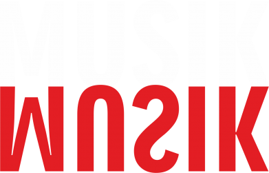 Print Bokserki męskie Napis Muzyka - PrintSalon