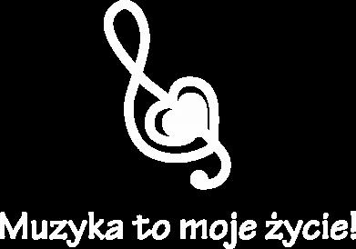 Print Męska bluza z kapturem Muzyka to moje życie! - PrintSalon