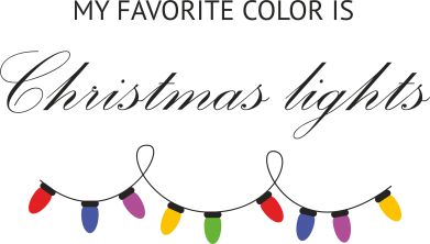 Print Etui na iPhone 11 My favorite color is Christmas Lights - PrintSalon