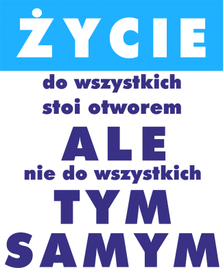 Print Damska koszulka V-neck Żyćie - PrintSalon