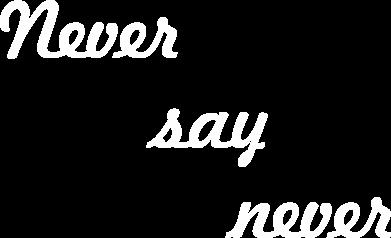 Print Plecak z przednią kieszenią Never say never - PrintSalon