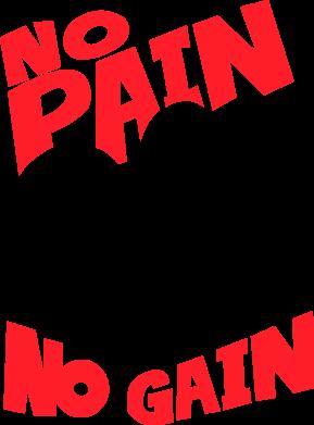 Print Damska koszulka polo No pain No gain - PrintSalon