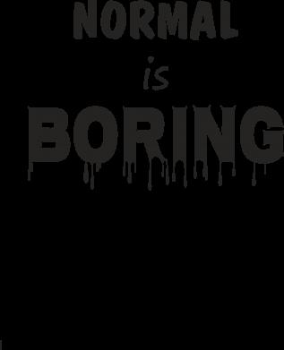 Print Mug 330ml Normal is boring - PrintSalon
