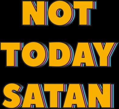 Print Plecak z przednią kieszenią Not today satan - PrintSalon