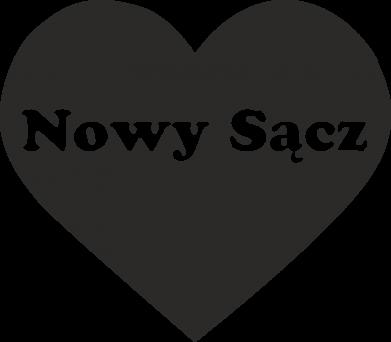 Print Baby bodysuit I love Nowy Sacz - PrintSalon