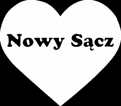Print Męska bluza z kapturem Kocham Nowy Sącz - PrintSalon