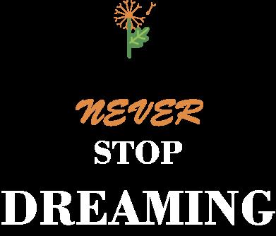Print Męska bluza z kapturem Never stop dreaming - PrintSalon