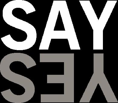 Print Męska bluza z kapturem Say Yes - PrintSalon