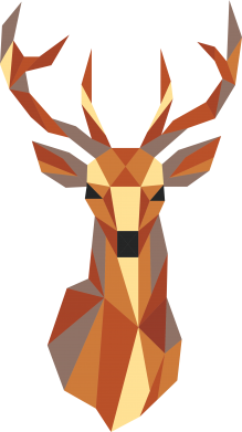 Print Notes Deer geometry in color - PrintSalon