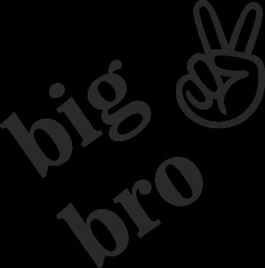 Print Baby bodysuit Big bro - PrintSalon