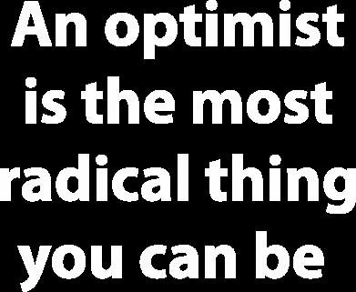 Print Męska bluza z kapturem Napis: An optimist - PrintSalon