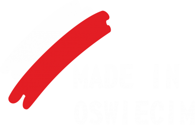 Print Męska bluza z kapturem Made in Oswiecim - PrintSalon