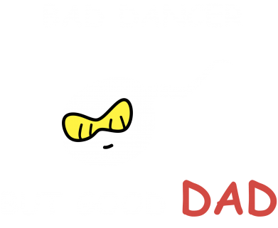 Print Bluza (raglan) Bad dancer but good dad - PrintSalon