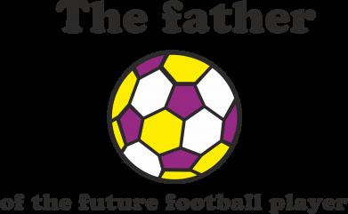 Print Mug 330ml The father of the future football player - PrintSalon