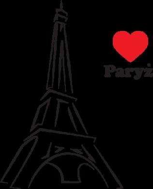 Print Damska koszulka polo Paryżu, kocham cię - PrintSalon