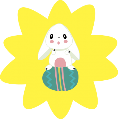 Print Women's hoodies Easter bunny - PrintSalon