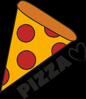 Print Etui na Xiaomi Mi6 Serce miłość pizzy - PrintSalon