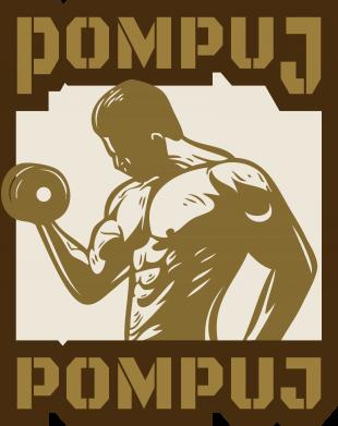 Print Damska koszulka V-neck Pompuj pompuj - PrintSalon