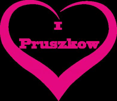 Print Męska bluza z kapturem I love Pruszkow - PrintSalon