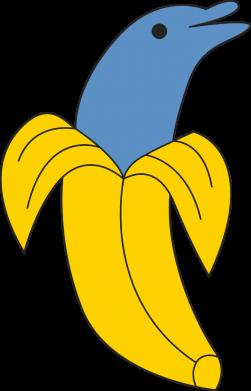 Print Men's Polo shirt Banana dolphin - PrintSalon