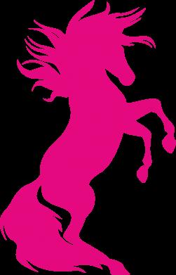 Print Damska koszulka polo Horse on hind legs - PrintSalon