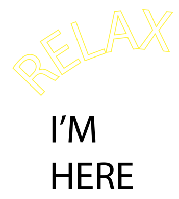 Print Etui na iPhone 11 Pro Max Relax. I'm here - PrintSalon