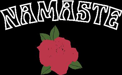 Print Plecak z przednią kieszenią Namaste rose - PrintSalon