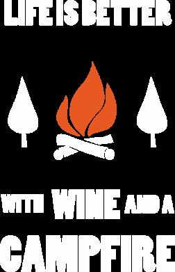 Print Damska koszulka polo Wine and a campfire - PrintSalon