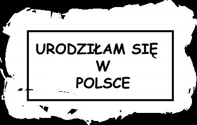 Print Damska koszulka polo Urodziłam się w Polsce - PrintSalon
