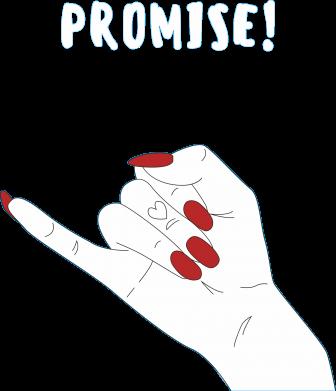 Print Męska bluza z kapturem Promise! - PrintSalon