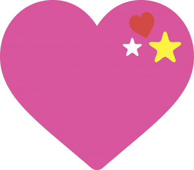 Print Damska koszulka polo Różowe serce - PrintSalon