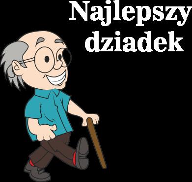 Print Bluza (raglan) Najlepszy dziadek - PrintSalon