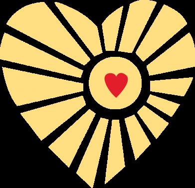 Print Etui na Xiaomi Mi6 Słońce z sercem - PrintSalon