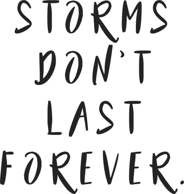 Print Mug 330ml Storms don't last forever - PrintSalon