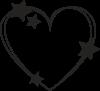 Serce z gwiazdami