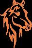 Nadruk Koń