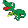 Mały dinozaur z herbatą