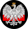 Polish emblem and flag of Poland