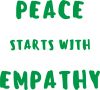 Peace starts with empathy