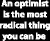 Napis: An optimist