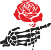 Rose skeleton hand