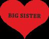 Big sister, napis w sercu