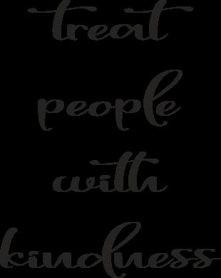 Print Etui na iPhone 11 Pro Max Treat people with kindness - PrintSalon