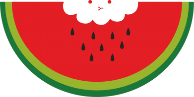 Print Męska bluza z kapturem Cloud of watermelon - PrintSalon
