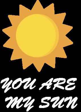 Print Damska koszulka polo You are my sun - PrintSalon