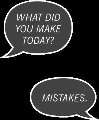 Print Męska bluza z kapturem What did you make today? Mistakes. - PrintSalon